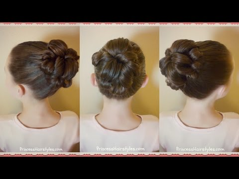 Topsy Tail Bun Tutorial, Quick and Easy Hairstyle For Dance!