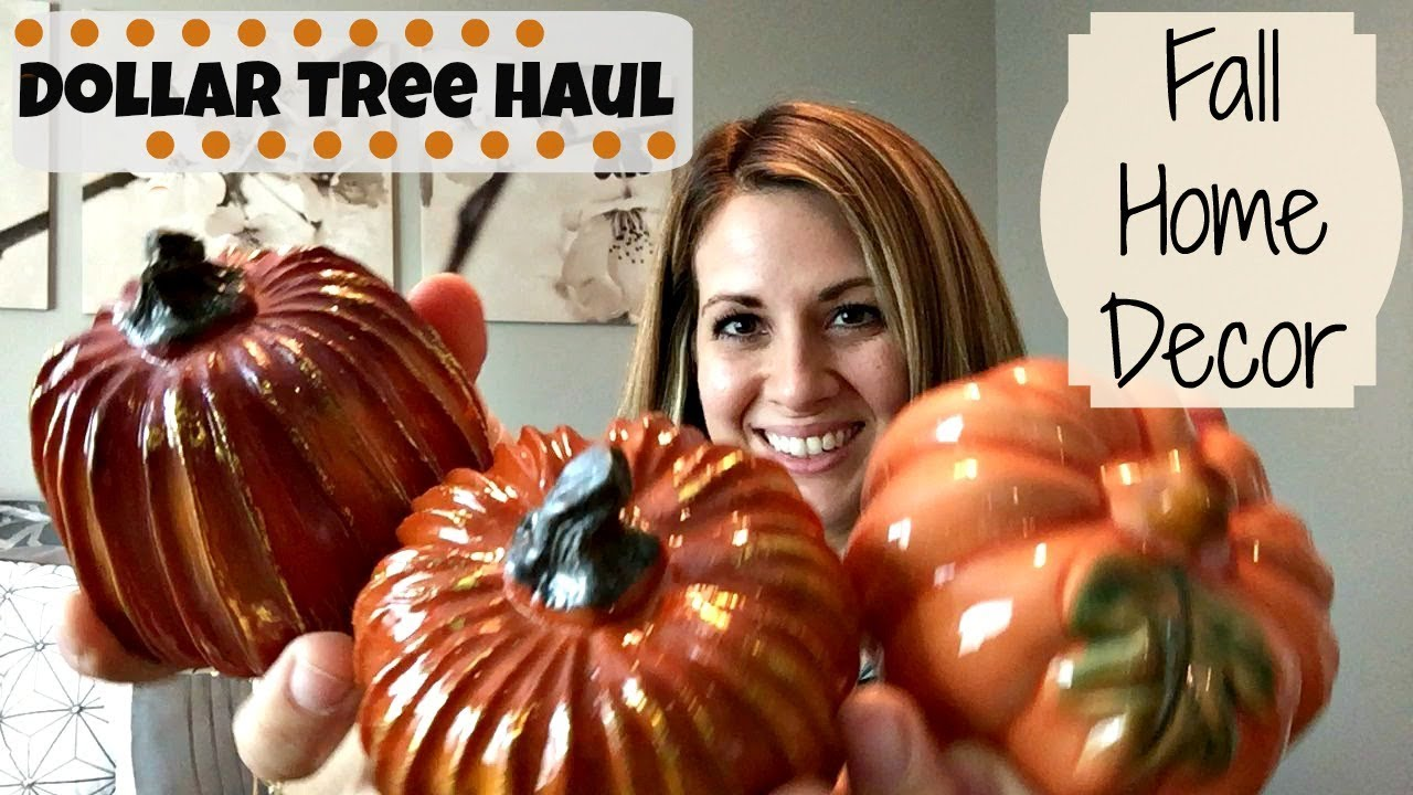 DOLLAR TREE :: FALL HOME DECOR HAUL :: SHOP WITH ME
