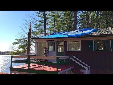 Nan's Maine Camp Damage