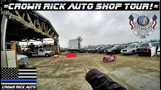 Crown Rick Auto Shop Tour QUICK LOOK Ford Crown Vic police interceptor Yard