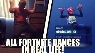 New All Fortnite Season 4 Dances In Real Life Orange Jus