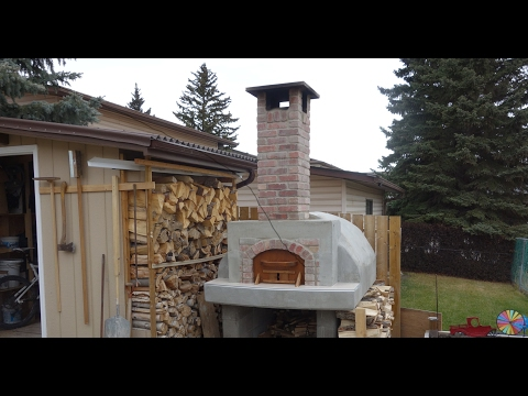 3/4 - Building a Wood Fired Pizza Oven in Calgary, Alberta- Insulation, Outer Shell & Chimney