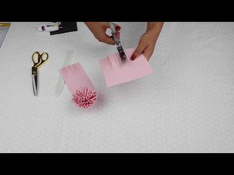 DIY - Making Flower Centers using Fringe Scissors