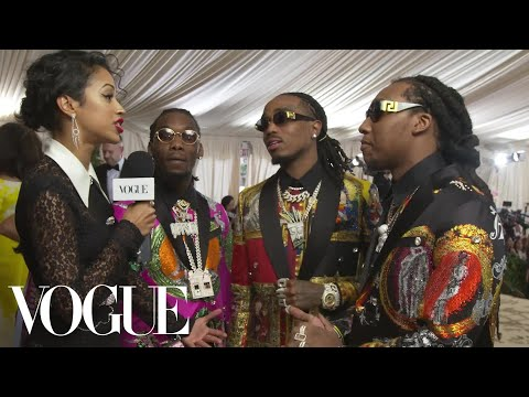 Migos on Their Matching Versace Suits | Met Gala 2018 With Liza Koshy | Vogue