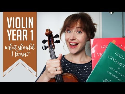 Violin: what you should learn in your first year