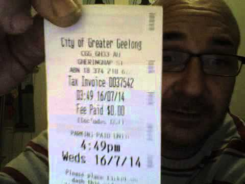 Parking ticket paid for me by The City of Greater Geelong