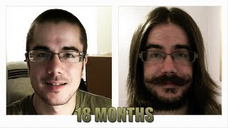 18 Month Hair and Beard Growth Time Lapse