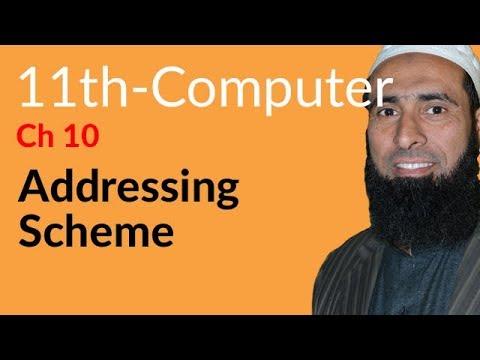 ICS Computer part 1, Ch 10, Addressing Scheme -ICS/FSC Part 1- 11th Class