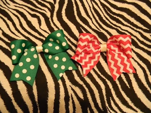 How to make an easy hair bow and attach a no slip allicator clip