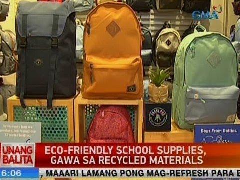 UB: Eco-friendly school supplies, gawa sa recycled materials