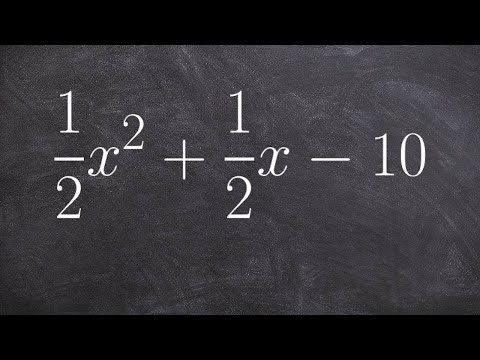 How to Factor a Trinomial with Fractions as Coefficients