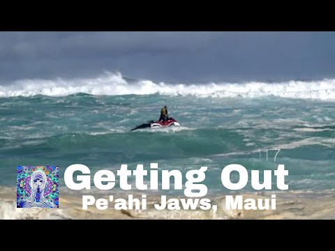 Getting out at Jaws Maui