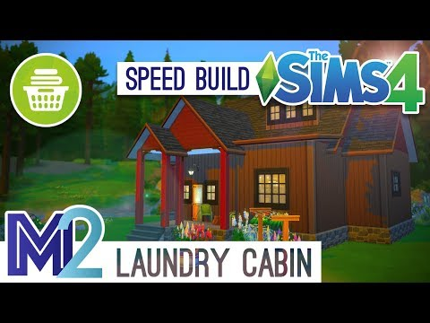 The Sims 4 Speed Build - Wood Cabin (Laundry Day Early Access)