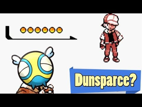 Pokemon - Sweeping Red with ONLY Dunsparce