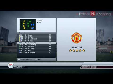 Fifa 12 | How to create your OWN formation | INDEPTH | by PatrickHDxGaming