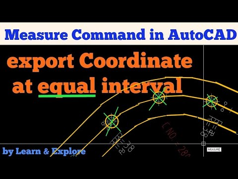 How to get coordinates at 10m intervals in AutoCAD!
