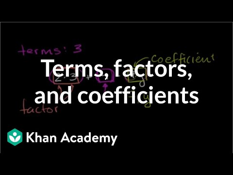 What are terms, factors, and coefficients in algebraic expressions? | 6th grade | Khan Academy