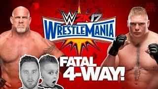 Wrestlemania Match! Goldberg vs Brock Lesnar vs KIDCITY | Let