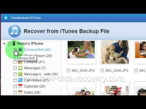 How to Recover Camera Roll and Photo Stream from iPhone 5S/5C/5 iTunes backup?