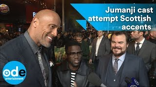 Cast of Jumanji do their best Scottish accents