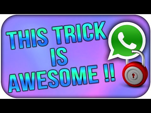 Latest WhatsApp Hack - Lock WhatsApp Chat without Root || Cool Trick