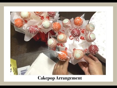 How to display Cakepops - Cakepops Gift Box Bouquet Arrangement