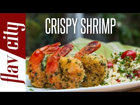 Crispy Shrimp Recipe - Panko Fried Shrimp - FlavCity with Bobby