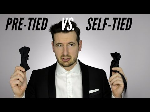 Pre tie vs. Self tie Bow Tie. Which one to choose? How to wear a self tie bow tie