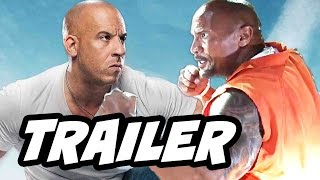 Fast and Furious 8 Trailer Vin Diesel vs The Rock Breakdown