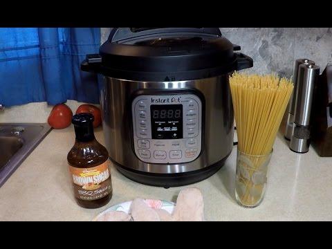 Pressure Cooker BBQ Spaghetti + Chicken Instant Pot