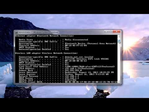 How to fix your network WiFi Connections using Command Prompt ipconfig
