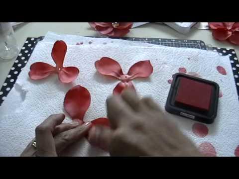 July Flower swap-Alcohol Ink silk flower