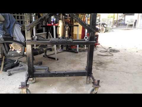 Homemade bearing press on wheels