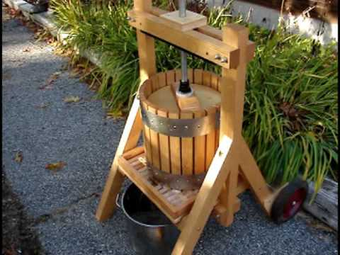Homemade Maine Apple Cider,  Hand Press & Apple Grinder