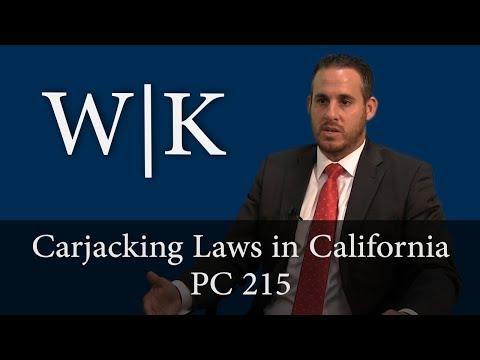 Carjacking Laws in California (PC 215)