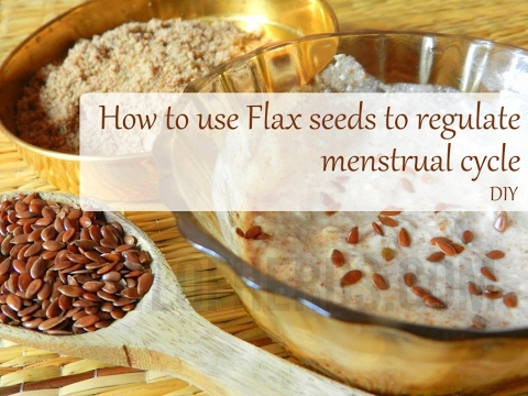 Flax Seeds To Regulate Menstrual Cycle - Home Remedy Recipe | Bowl Of Herbs