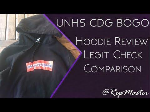 UNHS Supreme CDG Box Logo Hoodie Review Legit Check BOGO Comme Des
