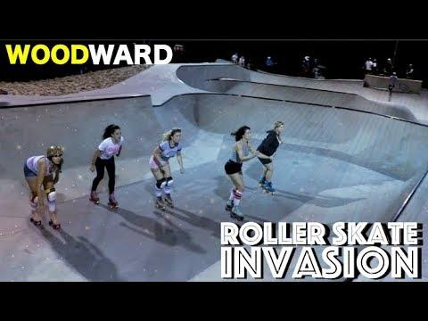 EXTREME ROLLER SKATE GIRLS TAKE OVER THE SKATEPARK!!