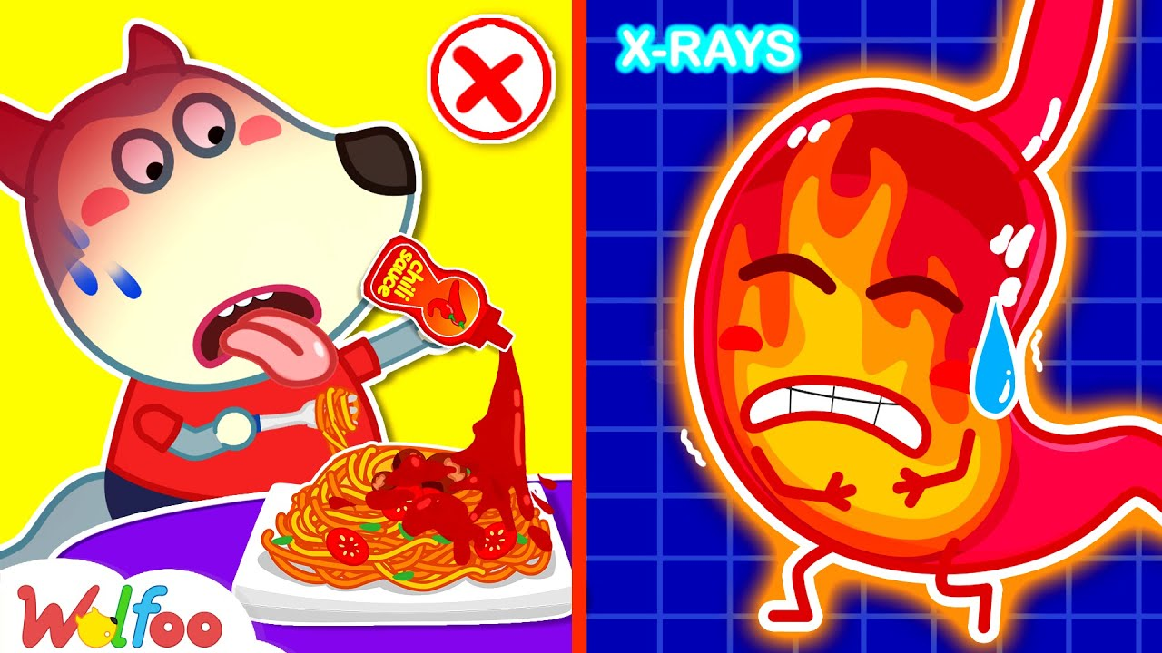 Wolfoo, Don't Eat Too Spicy! - Your Stomach Will Be Hurt - Yes Yes Stay Healthy | Wolfoo Channel
