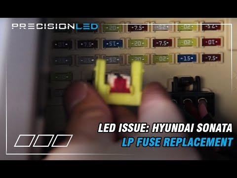 Solving LED Issue - Hyundai Sonata Room LP Fuse Replacement
