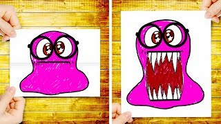 Slime Sam Turns a Boring Drawing into TOOTHY PARTY FAVORS -  Fun Idea For UNDER THE SEA THEME PARTY