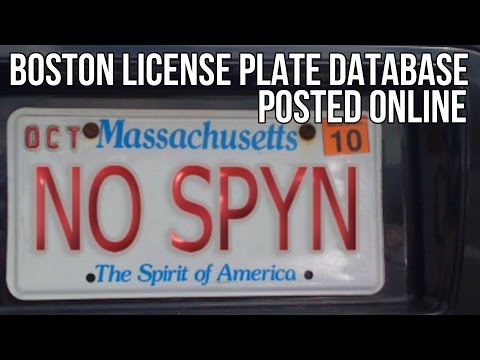 BOSTON LICENSE PLATE DATABASE POSTED ONLINE