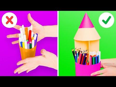 8 CREATIVE DIY DESK ORGANIZERS FOR KIDS