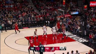 1st Quarter, One Box Video: Portland Trail Blazers vs. Toronto Raptors