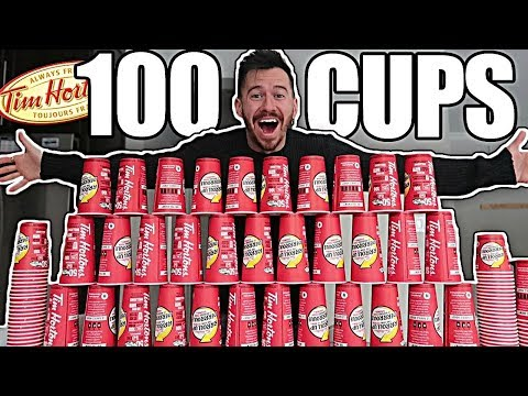 100 CUPS OF COFFEE!! *ROLL UP THE RIM TO WIN JACKPOT CHALLENGE*