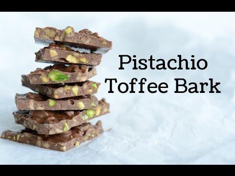 Easy Pistachio Toffee Bark Candy Recipe