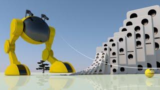 Pacman & Dominoes VS Dangerous Robot (An Unexpected End ! )