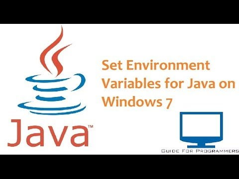 How to set Environment Variables for Java on Windows 7