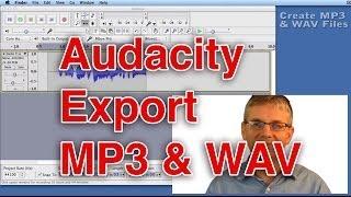 Download Audacity Tutorial Saving an MP3