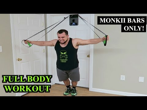 Intense 10 Minute FULL BODY Monkii Bars Workout